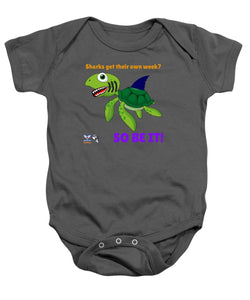 Infant Flukey Turtle Shark Week Baby Onesie - flukeylife, flukey