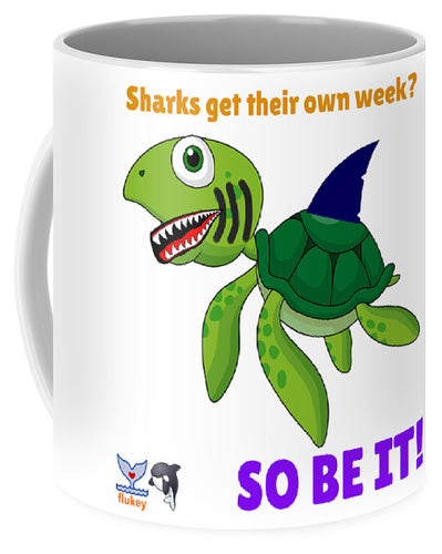 Flukey Turtle Shark Week Mug - flukeylife, flukey