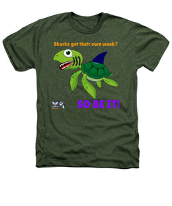 Men's Flukey Turtle Shark Week Heathered T-Shirt - flukeylife, flukey