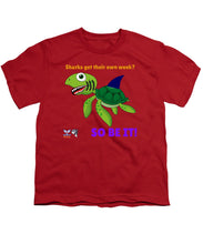 Youth Flukey Turtle Shark Week T-Shirt - flukeylife, flukey