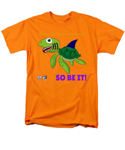 Men's Flukey Turtle Shark Week T-Shirt  (Regular Fit) - flukeylife, flukey