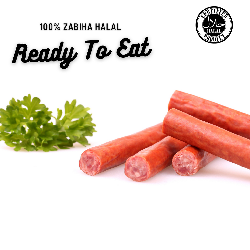 Sharifa Halal Teriyaki Beef Snack Stick - Smoked, Fully Cooked, Ready to Eat