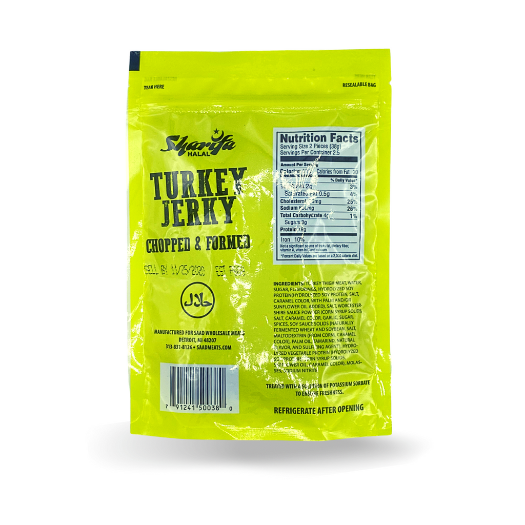 Sharifa Halal Turkey Jerky Chopped and Formed