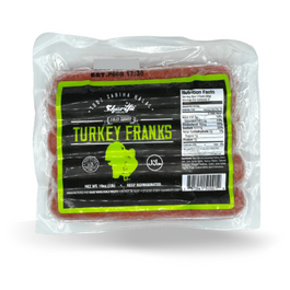 Sharifa Halal Turkey Franks Hot Dogs 1lb Pack