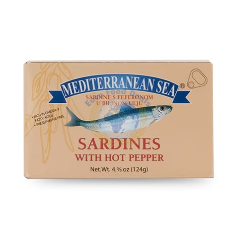 Mediterranean Sea Sardines Hot Pepper - HalalWorldDepot