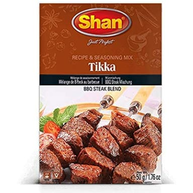 Shan Tikka Boti Seasoning Mix for BBQ Steak, 50 Grams - HalalWorldDepot