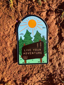 New Live Your Adventure Vinyl Sticker