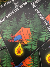 Load image into Gallery viewer, Camp Under The Stars Vinyl Sticker