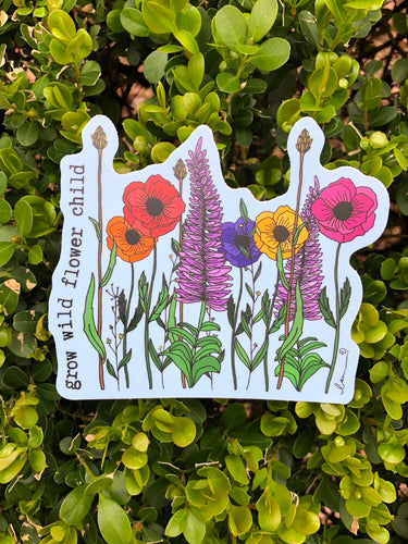 Grow Wild Vinyl Sticker