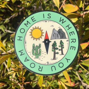 Home Is Where You Roam Vinyl Sticker