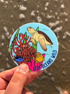 Keep Oceans Wild Vinyl Sticker