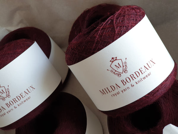 Baby Alpaca & Viscose Yarn by Milda Bordeaux