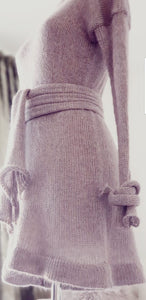 Knitted Dress Dusty Purple Colour | 100% Handmade