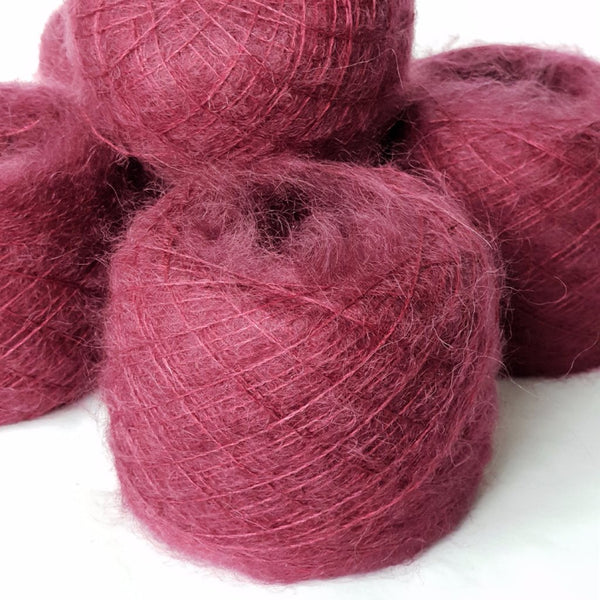 Royal Yarn by Milda Bordeaux – Mohair & SILK - BURGUNDY