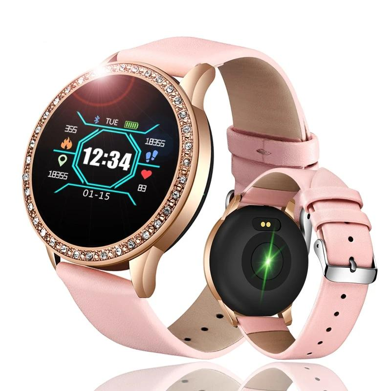 Damen Sport Smartwatch Fashion Fitness Tracker Mescharmband