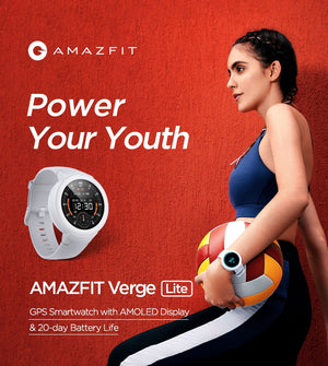 Laden Sie das Bild in den Galerie-Viewer, Amazfit Verge Lite Smartwatch IP68 GPS AMOLED Display - Coomero