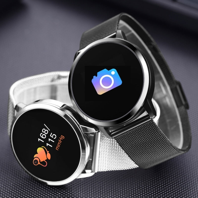 Laden Sie das Bild in den Galerie-Viewer, Smartwatch Fitness Armbanduhr Bluetooth Kamera Wasserdicht.