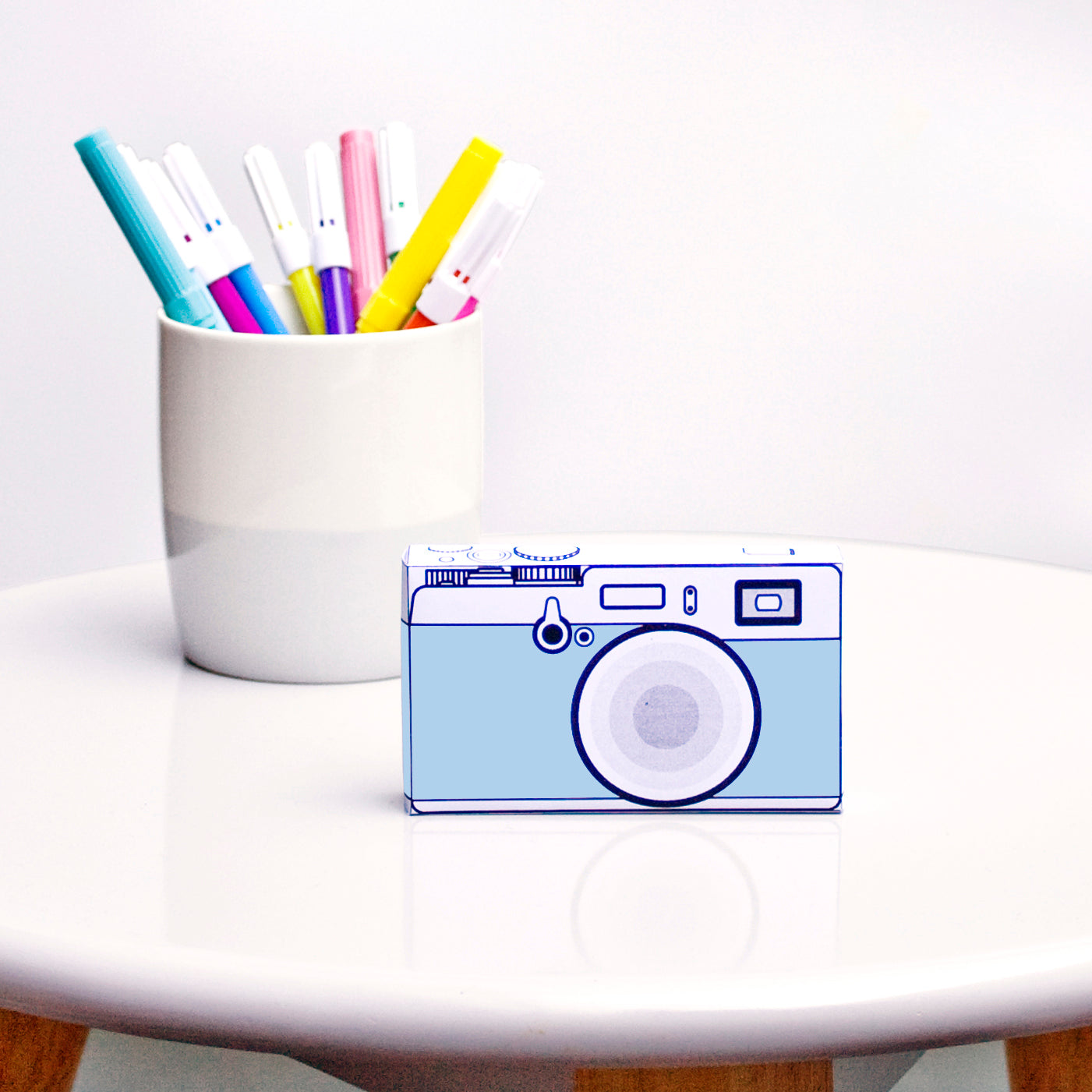 Safari | Camera Blue | paper craft pattern