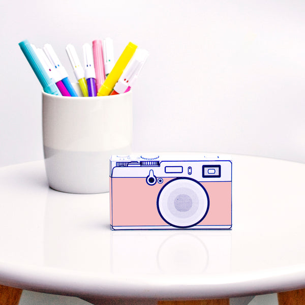 Safari | Camera Pink  | paper craft pattern
