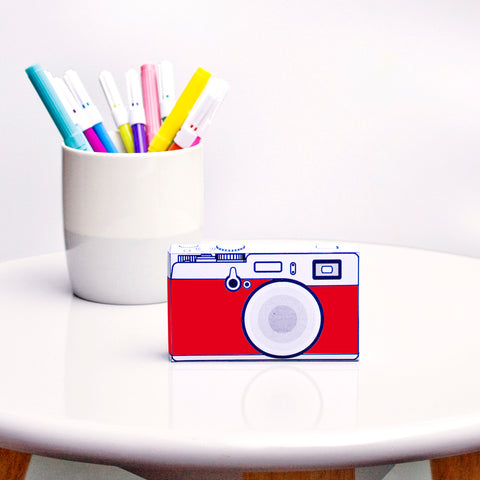 Safari | Camera Red | paper craft pattern