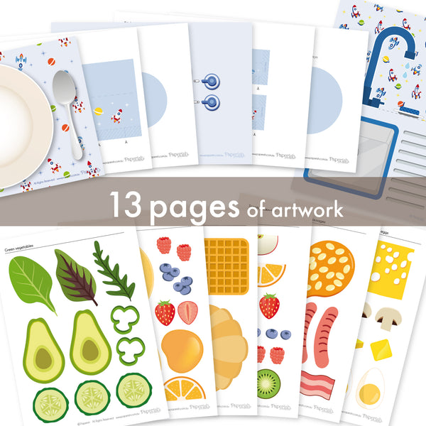 Kitchen set | Rocket | paper craft pattern | craft kits kids