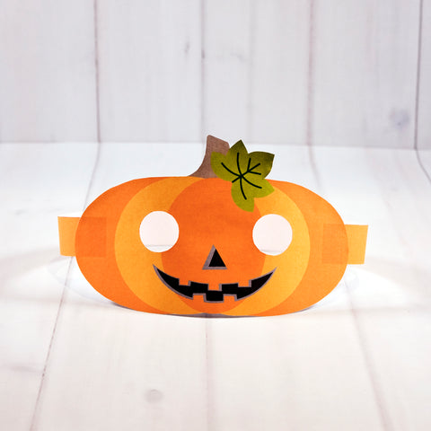 Free Halloween mask printable - Pumpkin