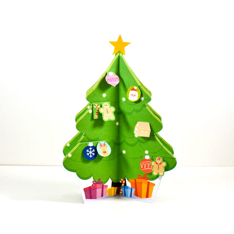 DIY small Christmas tree, DIY Christmas tree, printable Christmas tree, easy christmas craft