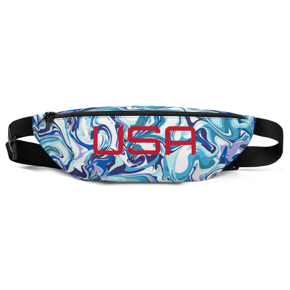 Blue Fluid USA Fanny Pack