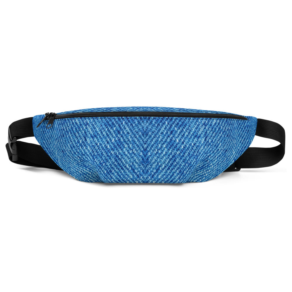 Denim Effect Fanny Pack - Waist Belt - Bum Bag - Florida Mode Online Boutique