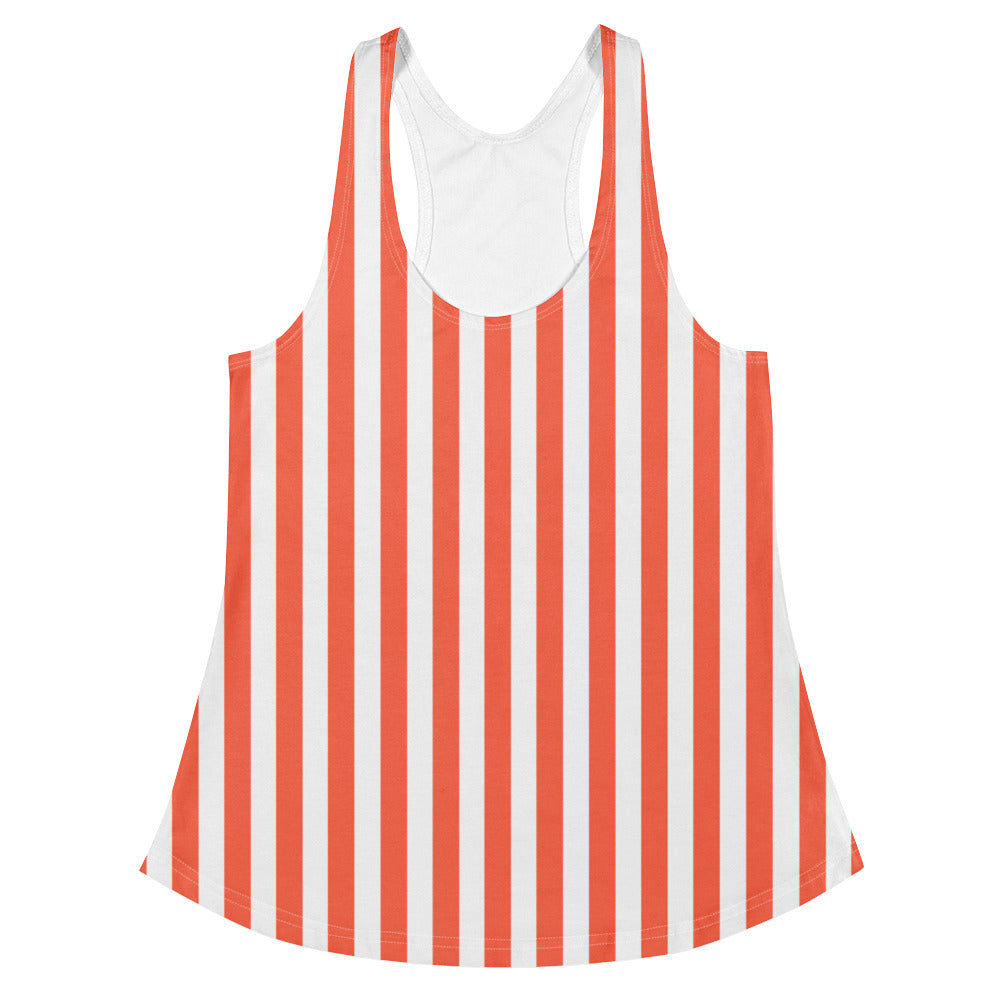 Orange Florida Stripes Racerback Tank Top