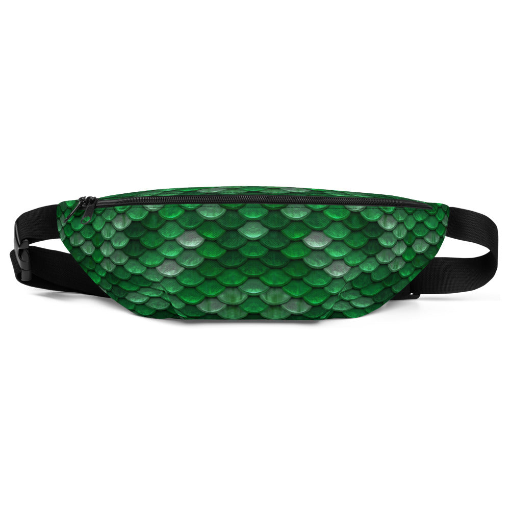 Green Fish Scales Mermaid Fanny Pack