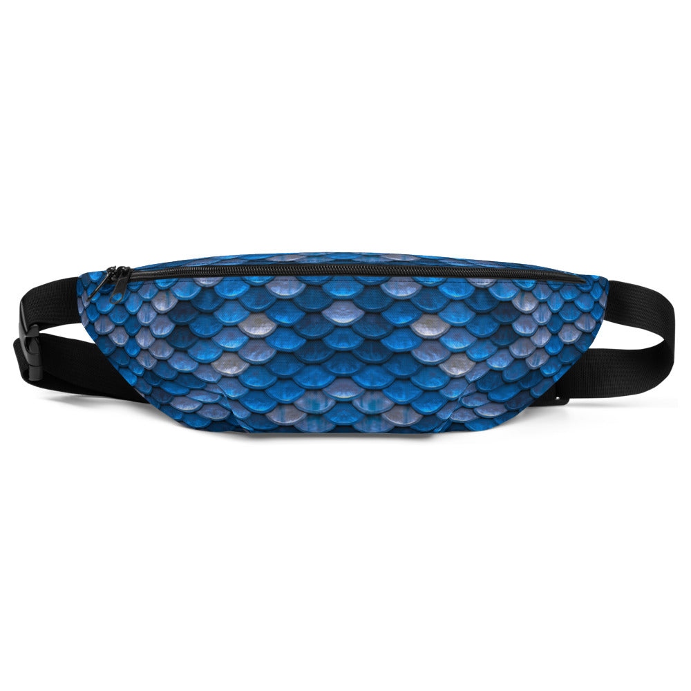 Blue Fish Scales Mermaid Fanny Pack