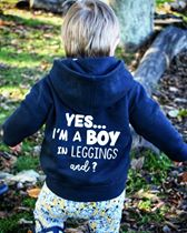 Boy in leggings - Zip Up Hoodie