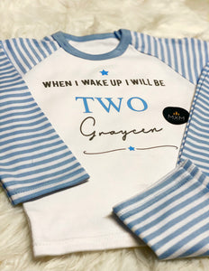 Personalised Children's Birthday Pyjamas - When I Wake Up I Will Be