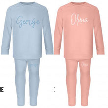 Load image into Gallery viewer, Limited Edition Personalised Children's Two Piece Lounge/Wear/Lounge Set - 100% Cotton