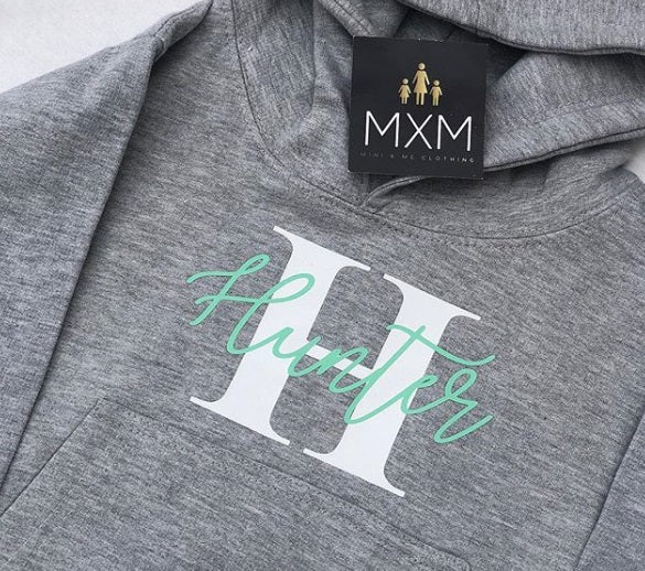 Signature Initial - Hoodie - DUSKY PINK OUT OF STOCK IN ALL SIZES! (25/1/21)