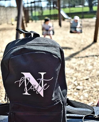 Signature Initial Design - Mini Backpack