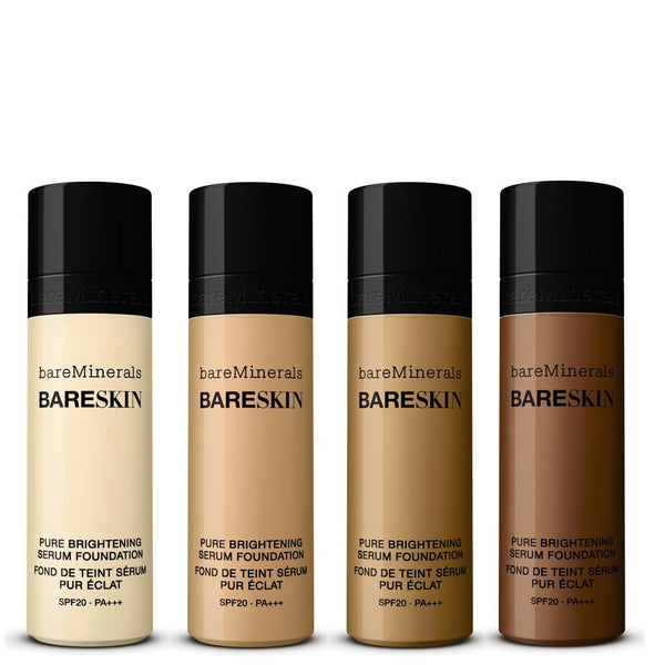 bareMinerals BareSkin Liquid Foundation and Pure Brightening Serum, SPF 20, 1.0 oz