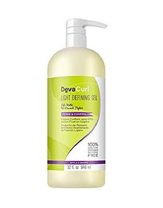 DevaCurl Light Defining Styling Hair Gel, 32.0 oz