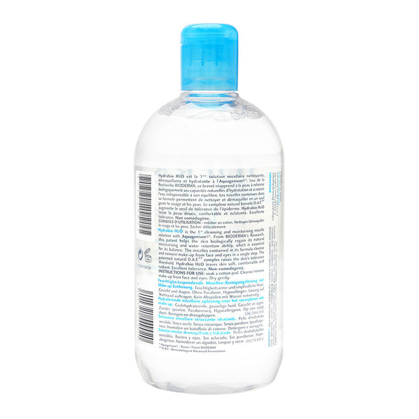 Bioderma Hydrabio H2O Micellar Water, Cleansing and Make-Up Removing Solution, 16.7 fl oz