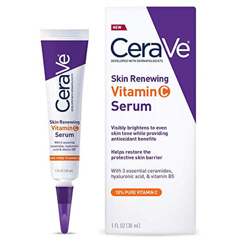 CeraVe Vitamin C Serum with Hyaluronic Acid, Skin Brightening Serum for Face with 10% Pure Vitamin C, 1 Fl. Oz