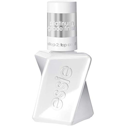 essie gel couture platinum grade finish top coat top, 0.46 fl oz