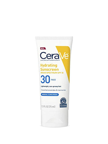 Cerave 100% Mineral Sunscreen SPF 30, 2.5 oz