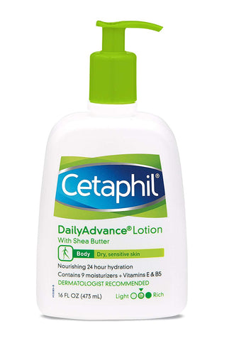 Cetaphil Daily Advance Lotion, With Shea Butter 16.0 fl oz
