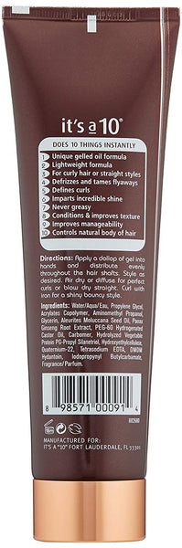 It's a 10 Miracle Defrizzing Gel, 5.0 fl oz
