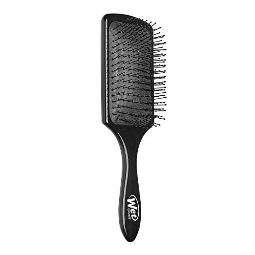 Wet Brush Paddle Detangler Hair Brush Black with Soft Bristles