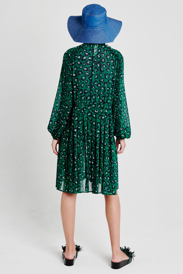 Splash blouson dress