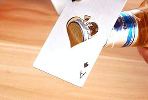 Stainless Ace of Spades Bottle Opener and RFID Wallet Guard