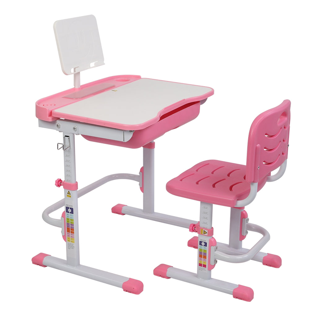 Children Learning Table And Chair Pink