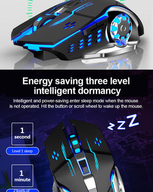 Wireless Charging Luminous Mouse (Great For Gaming)
